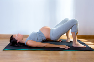 Beautiful pregnant woman gym fitness exercise