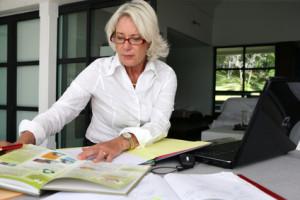 Smart senior businesswoman